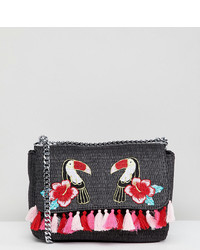 Skinnydip Toucan Marley Mini Embroidered Cross Body Bag