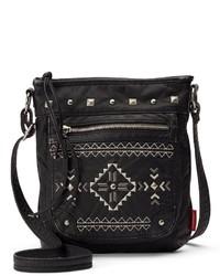 UNIONBAY Tribal Pyramid Studded Crossbody Bag