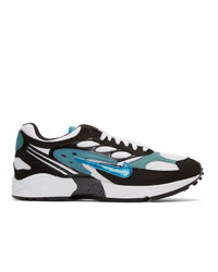 Nike Black And Blue Air Ghost Racer Sneakers
