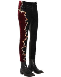 Haider Ackermann Embroidered Chenille Leather Pants