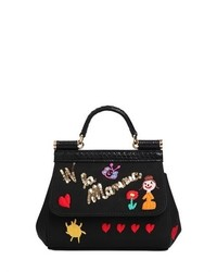 Dolce & Gabbana Mini Sicily Embroidered Grosgrain Bag