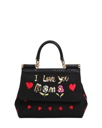 Dolce & Gabbana Small Sicily Embroidered Grosgrain Bag