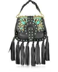 Gedebe Alice Small Black Leather Handbag