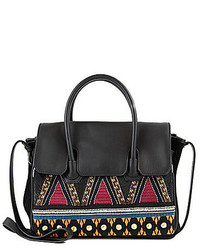 Sam Edelman Sylvia Beaded Tribal Embroidered Satchel