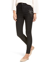 Nordstrom Embroidered Crop Denim Leggings