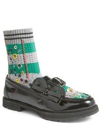 Fendi Marie Antoinette Embroidered Sock Loafer