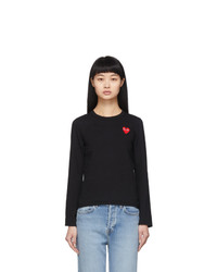 Comme Des Garcons Play Black Heart Patch Long Sleeve T Shirt
