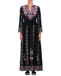 Irina embroidered silk maxi dress medium 6447902