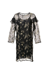 Suno Sheer Ruffle Dress