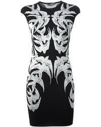 Alexander McQueen Lace Bird Jacquard Dress