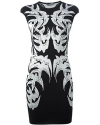 Alexander McQueen Lace Bird Jacquard Dress