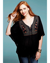 Ingrid embroidered peasant blouse medium 238456