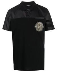 Balmain Badge Applique Short Sleeve Polo Shirt