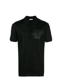 Versace Collection Medusa Embroidered Polo Shirt