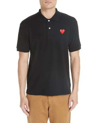 Comme des Garcons Play Heart Logo Slim Fit Polo
