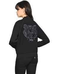 Kenzo Embroidered Satin Backed Crepe Jacket