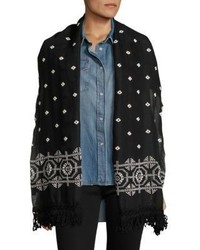 The Kooples Bandana Embroidered Scarf
