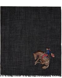 Paul Smith Black Cowboy Scarf