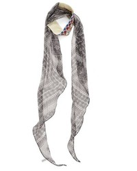 BCBGeneration Mosaic Me Embroidered Scarf