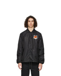MAISON KITSUNÉ Black Velvet Fox Head Bertil Jacket