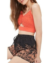 Topshop Embroidered Dotty Shorts