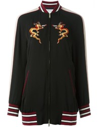 Valentino Dragon Embroidered Bomber Jacket