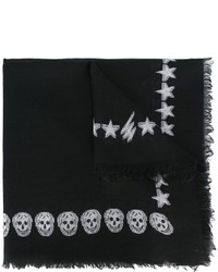 Alexander McQueen Stars And Skulls Embroidered Scarf