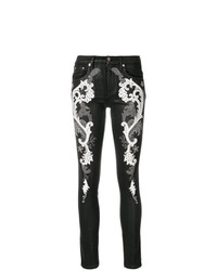 Roberto Cavalli Baroque Embroidered Jeans
