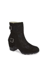 f53ab2a61ef Black Embroidered Ankle Boots for Women | Women's Fashion ...