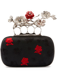 Alexander McQueen Embroidered Floral Box Clutch Bag