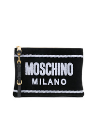 Moschino Front Logo Clutch Bag