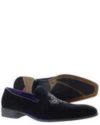 other new dress shoes black suede slip on slipper