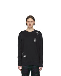 Paul Smith Black Embroidered Bugs Sweatshirt