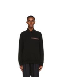 Alexander McQueen Black Logo Tape Sweatshirt