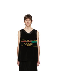 Gucci Black Chenille Tank Top