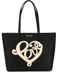 Love Moschino Heart Embroidered Tote Bag