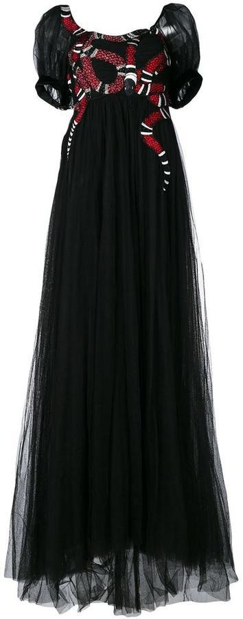 3b7b2aba572 ... Gucci Snake Embroidered Tulle Gown ...