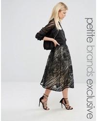 Little mistress petite full lace midi skirt medium 3644377