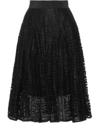 Pleated embroidered tulle skirt medium 3644371