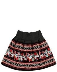 Lm Lulu Embroidered Velvet Skirt
