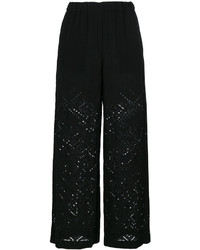 Theory English Embroidery Wide Legged Trousers