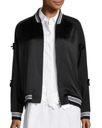 3.1 Phillip Lim Embroidered Wool Tuxedo Bomber Jacket
