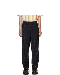 Tibi Ssense Navy Ant Pull On Trousers