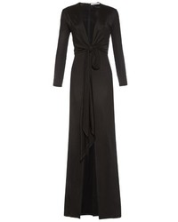 Givenchy Deep Neck Front Slit Gown