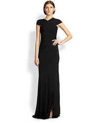 Donna Karan Draped Crossover Gown