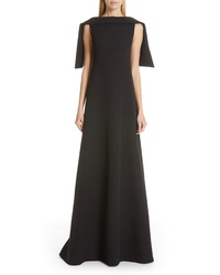 Givenchy Embellished Cape Wool Dress