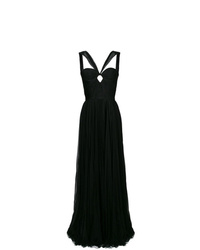Dsquared2 Fitted Bustier Flared Gown