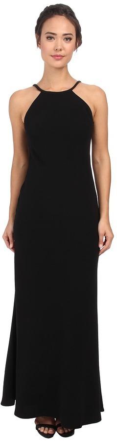 Black Evening Dresses Calvin Klein Halterneck Gown Cd5b1850