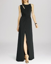 Halston Heritage Cutout Jersey Gown