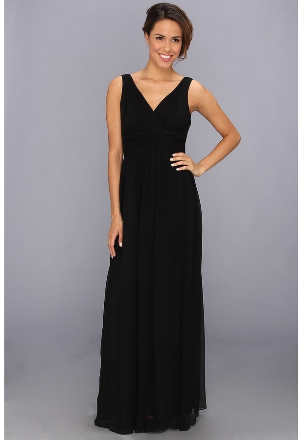 Donna Morgan Julie Bra Friendly Long Gown Dress | Where to buy & how ...